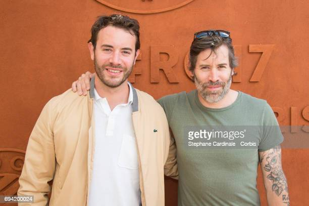 Yaniss Lespert and Jalil Lespert attend the French Tennis Open 2017 Day Thirteen at Roland Garros on June 9 2017 in Paris France