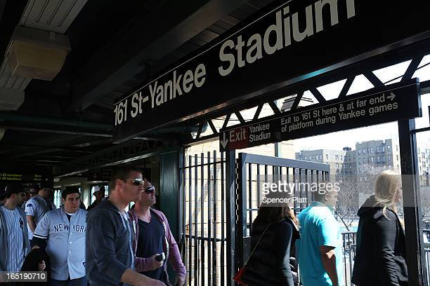 Yankee fans enter Yankee Stadium for Opening Day on April 1 2013 in New York City The New York Yankees open their season today with a game against...