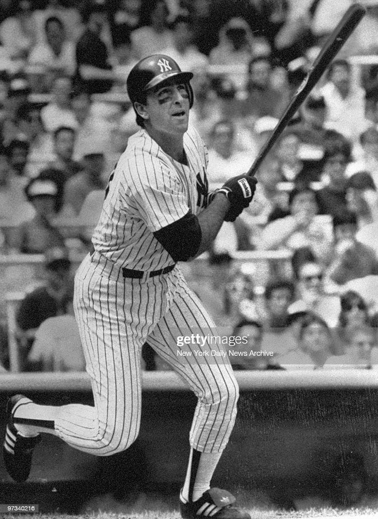 Yankees' Jack Clark at bat