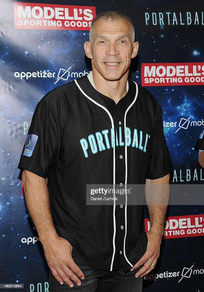 NY Yankees Manager <a gi-track='captionPersonalityLinkClicked' href=/galleries/search?phrase=Joe+Girardi&family=editorial&specificpeople=208659 ng-click='$event.stopPropagation()'>Joe Girardi</a> poses during the Portalball App Launch at Modell's Sporting Goods Store on August 5, 2015 in New York City.