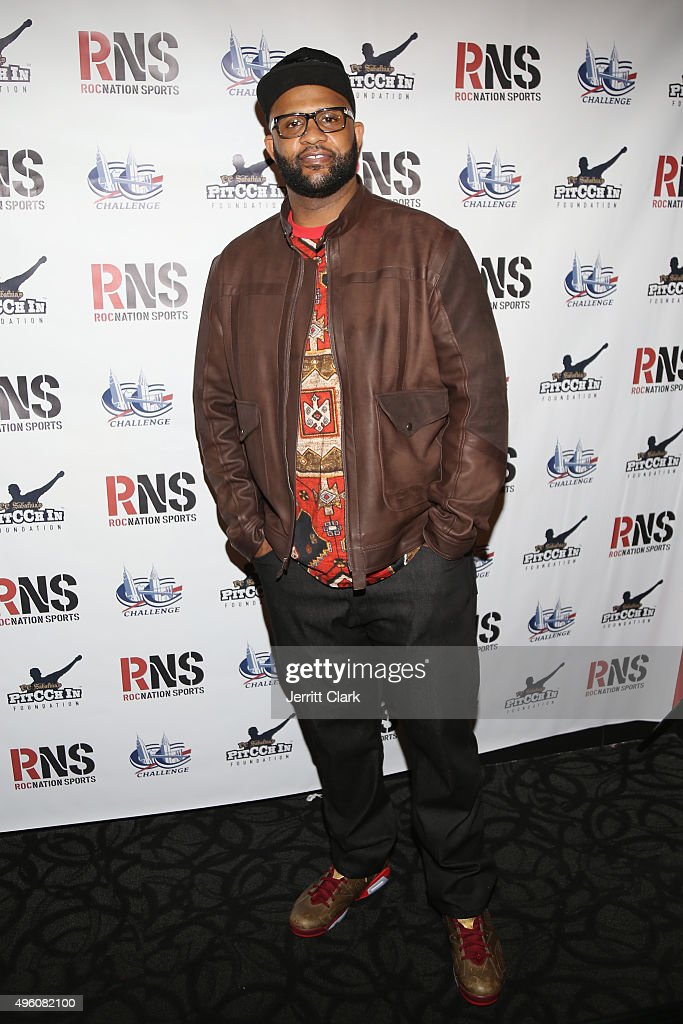 NY Yankees Pitcher C.C. Sabathia attends Amber and C.C. Sabathia's 5th Annual PitCCh In Foundation CC Challenge rules party at Bowlmor Lanes on November 6, 2015 in New York City.