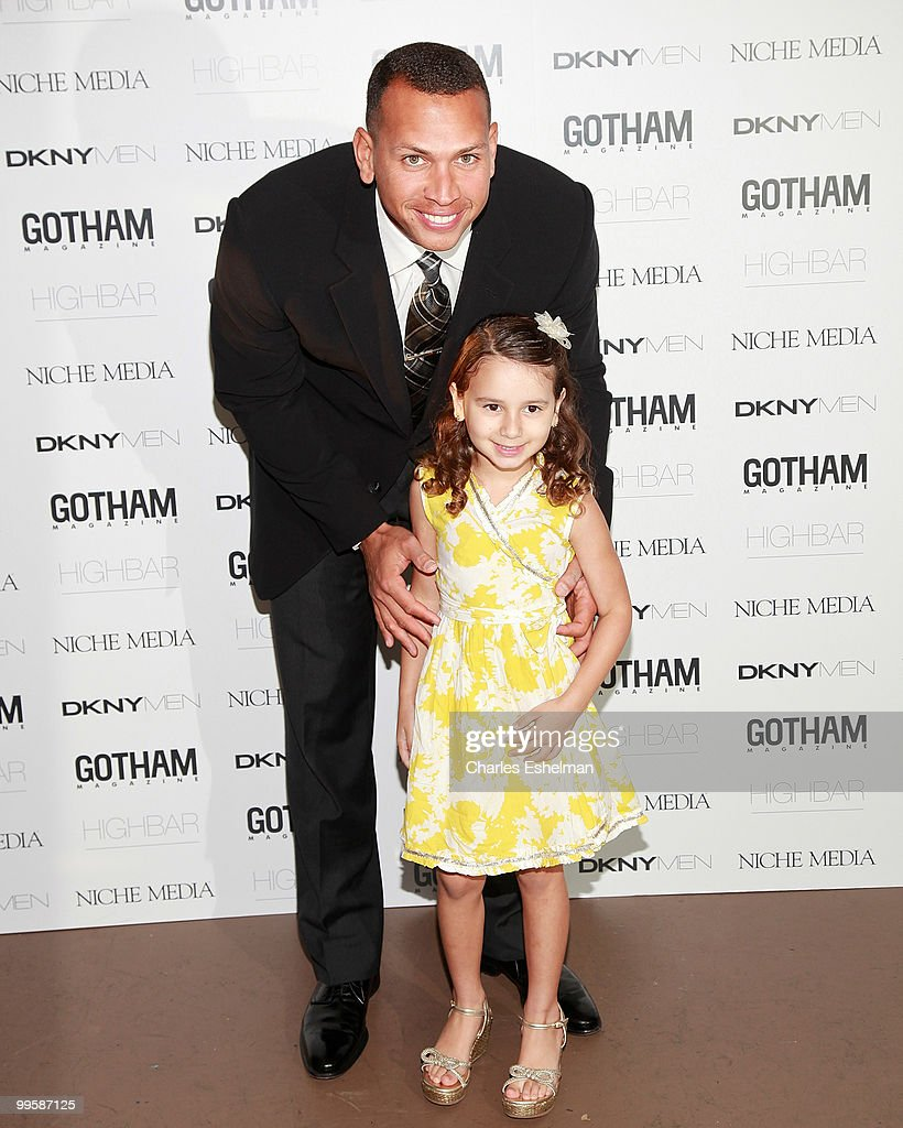 NY Yankees third baseman Alex 'A-Rod' Rodriguez and daughter Tasha Rodriguez attend the Alex Rodriguez cover party hosted by Jason Binn & Niche Media's Gotham Magazine at Highbar on May 15, 2010 in New York City.