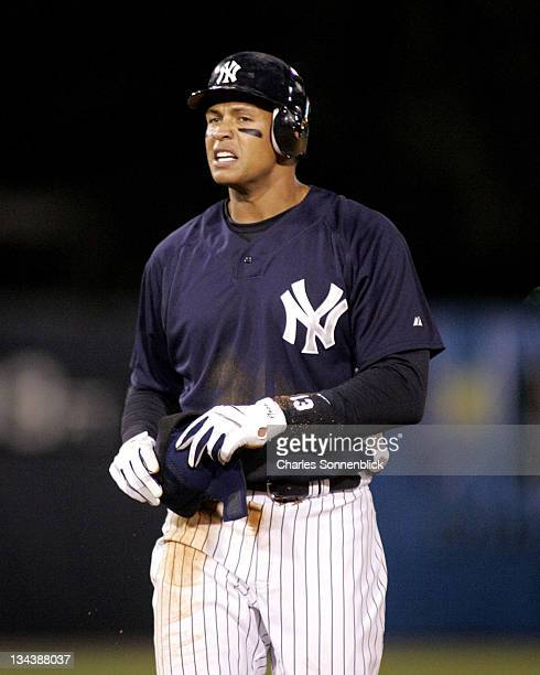 Yankees third baseman Alex Rodriguez in a spring training game against the Reds on March 7 2007 at Legends Field in Tampa Florida