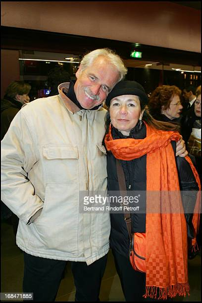 Yann Arthus Bertrand and his wife at Film Premiere of 'Le Couperet' at Gaumont Champs Elysees In Paris