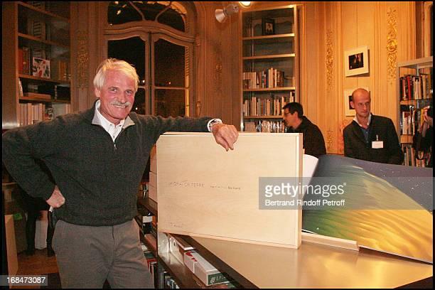 Yann Arthus Bertrand Signs Copies Of La Grande Terre At La Librairie Artcurial In Paris