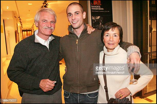 Yann Arthus Bertrand with wife and son Tom at Yann Arthus Bertrand Signs Copies Of La Grande Terre At La Librairie Artcurial In Paris