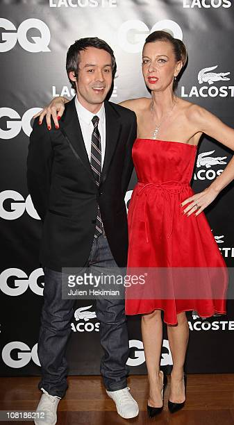 Yann Barthes and Anne Boulay attend the 'GQ Man Of The Year 2010' party at ShangriLa Hotel Paris on January 19 2011 in Paris France