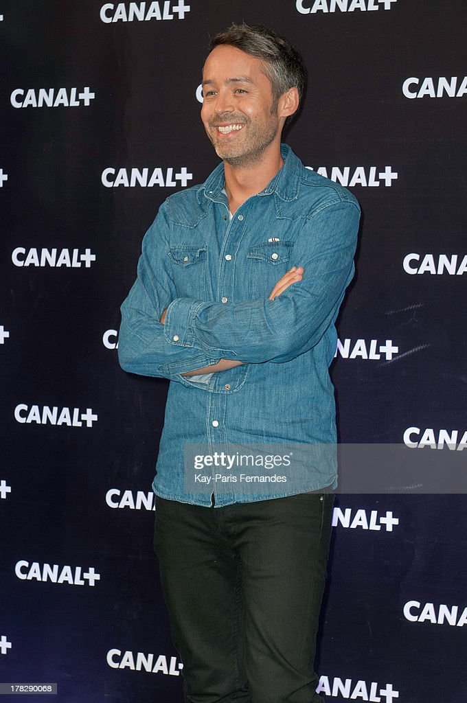 Yann Barthes of French tv programme 'Le petit journal' at the 'Rentree De Canal +' photocall at Porte De Versailles on August 28, 2013 in Paris, France.