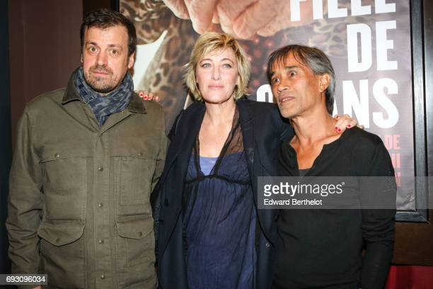 Yann Coridian Valeria Bruni Tedeschi and Thierry Thieu Niang during the 'Une jeune Fille De 90 Ans' Paris Premiere At Elysee Biarritz photocall on...