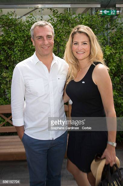 Yann Delaigue and Astrid Bard attend the 2015 Roland Garros French Tennis Open Day Eleven on June 3 2015 in Paris France