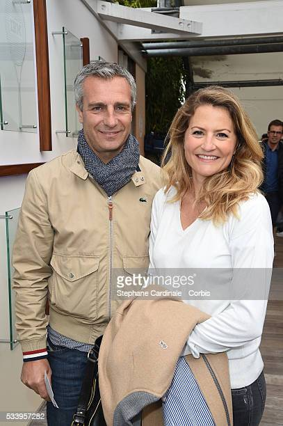 Yann Delaigue and Astrid Bard attend the 2016 French tennis Open day 3 at Roland Garros on May 24 2016 in Paris France