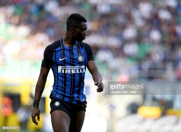 Yann Karamoh looks on during the Serie A match between FC Internazionale and Genoa CFC at Stadio Giuseppe Meazza on September 24 2017 in Milan Italy