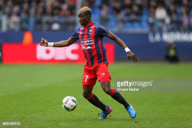 Yann Karamoh of Caen during the French Ligue 1 match between Caen and Monaco at Stade Michel D'Ornano on March 18 2017 in Caen France