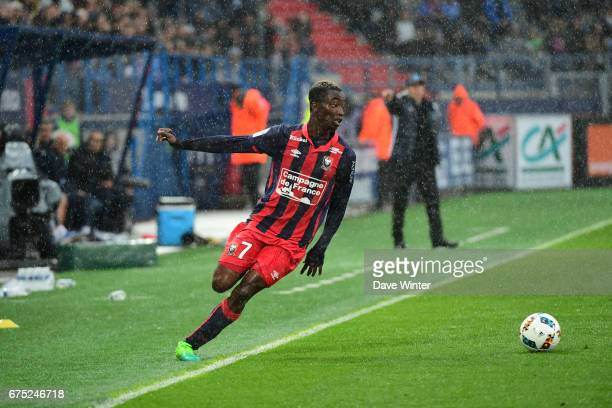 Yann Karamoh of Caen during the French Ligue 1 match between Caen and Marseille at Stade Michel D'Ornano on April 30 2017 in Caen France