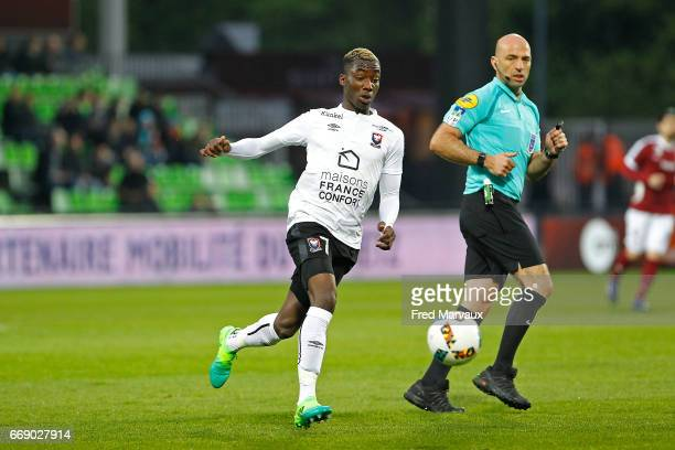 Yann Karamoh of Caen during the Ligue 1 match between Fc Metz and SM Caen at Stade SaintSymphorien on April 15 2017 in Metz France