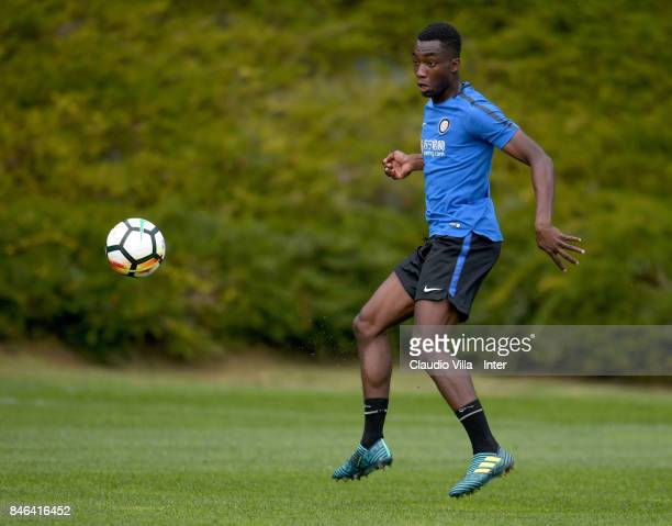 Yann Karamoh of FC Internazionale in action during a training session at Suning Training Center at Appiano Gentile on September 13 2017 in Como Italy