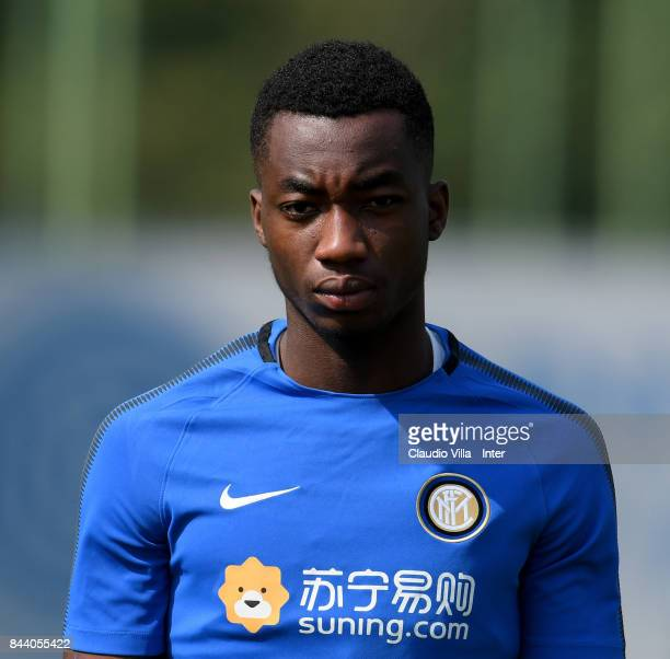 Yann Karamoh of FC Internazionale looks on during a training session at Suning Training Center at Appiano Gentile on September 08 2017 in Como Italy