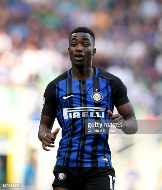 Yann Karamoh of FC Internazionale looks on during the Serie A match between FC Internazionale and Genoa CFC at Stadio Giuseppe Meazza on September 24...