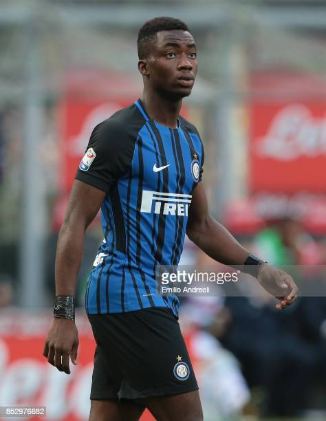 Yann Karamoh of FC Internazionale Milano looks on during the Serie A match between FC Internazionale and Genoa CFC at Stadio Giuseppe Meazza on...