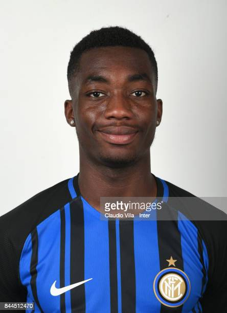 Yann Karamoh of FC Internazionale poses during the official portrait session at Appiano Gentile on September 8 2017 in Como Italy