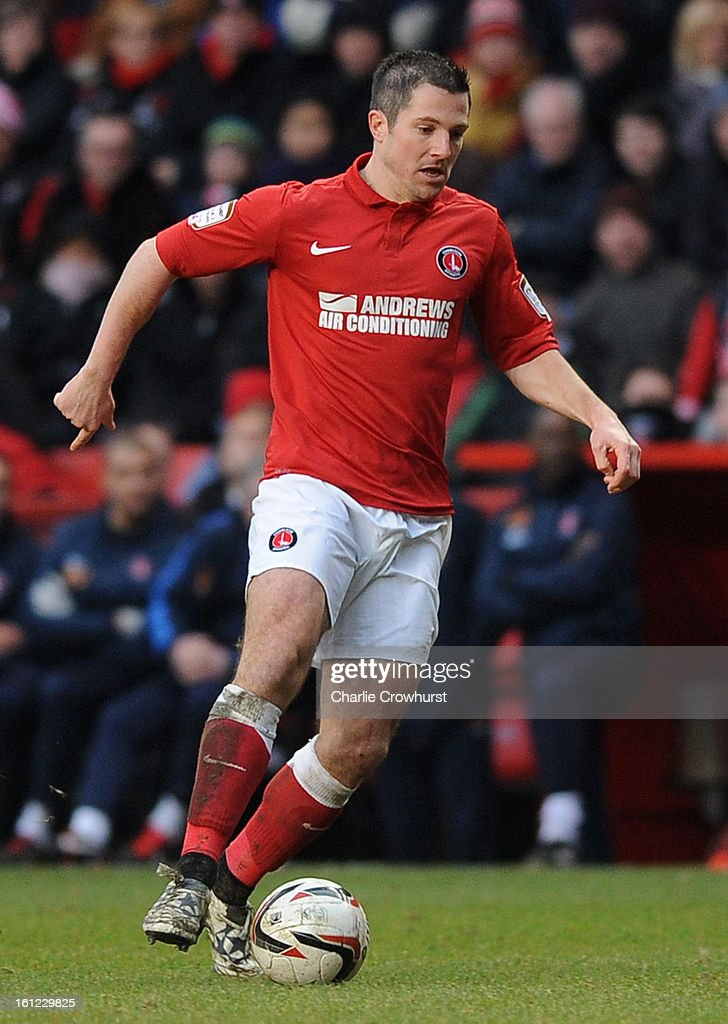 Yann Kermorgant of Charlton attacks during the npower Championship match between Charlton Athletic and Birmingham City at The Valley on February 09, 2013 in London England.