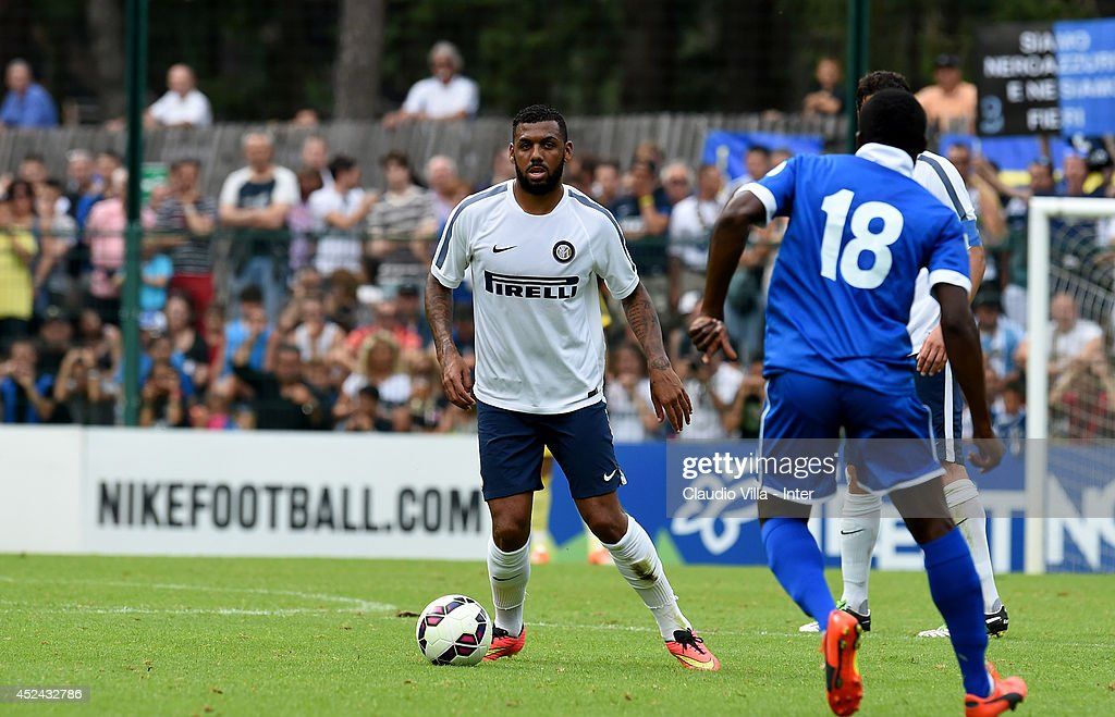 Yann M'Vila in action during the pre-season friendly match between FC Internazionale and AC Prato on July 20, 2014 in Pinzolo near Trento, Italy.