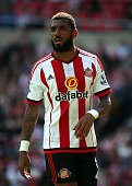 Yann M'Vila of Sunderland looks on during the Barclays Premier League match between Sunderland and Norwich City at Stadium of Light on August 15 2015...