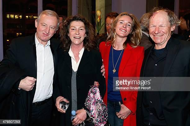 Yann Queffélec Florence Artaux Géraldine Danon and her husband Philippe Poupon attend the 'De Toutes Nos Forces' Paris premiere at Gaumont Capucines...