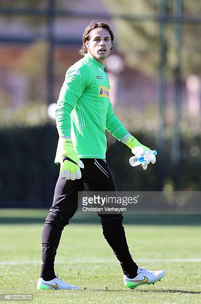Yann Sommer of Borussia Moenchengladbach during a training session on day two of Borussia Moenchengladbach training camp on January 9 2015 in Belek...