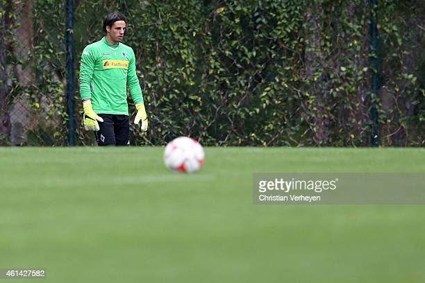 Yann Sommer of Borussia Moenchengladbach during a training session on day five of Borussia Moenchengladbach training camp on January 12 2015 in Belek...