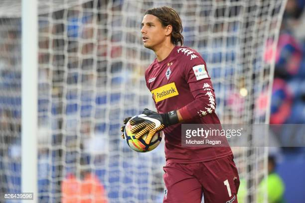 Yann Sommer of Borussia Moenchengladbach in action during the preseason friendly match between Leicester City and Borussia Moenchengladbach at The...
