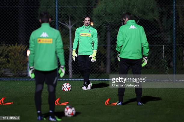 Yann Sommer of Borussia Moenchengladbach looks on during a training session at day one of Borussia Moenchengladbach training camp on January 8 2015...