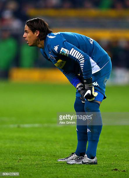 Yann Sommer of Borussia Moenchengladbach looks on during the Bundesliga match between Borussia Moenchengladbach and Borussia Dortmund at BorussiaPark...