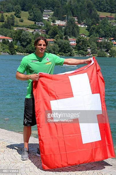 Yann Sommer of Borussia Moenchengladbach poses during a portrait session at day three of Borussia Moenchengladbach training camp on July 15 2015 in...