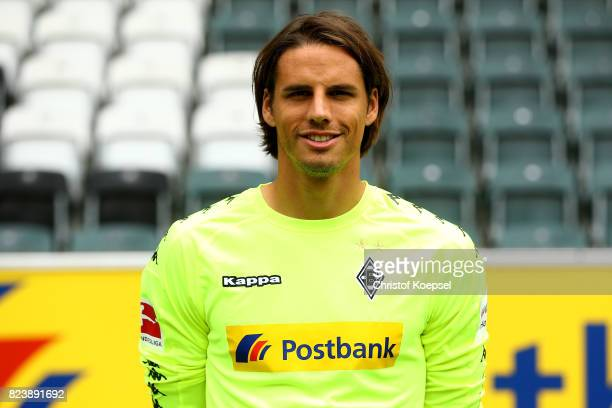 Yann Sommer of Borussia Moenchengladbach poses during the team presentation at Borussia Park on July 28 2017 in Moenchengladbach Germany