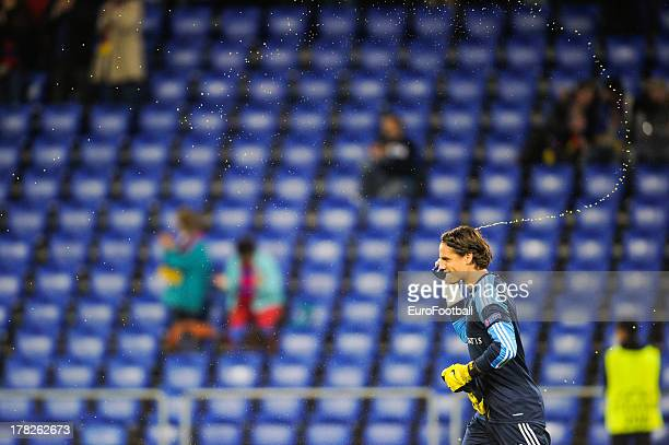 Yann Sommer of FC Basel 1893 in action during the UEFA Champions League playoff second leg match between FC Basel 1893 and PFC Ludogorets Razgrad...