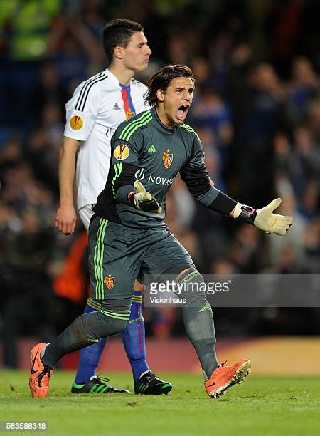 Yann Sommer of FC Basel in action during the UEFA Europa League Semi Final Second Leg match between Chelsea and Basel at Stamford Bridge in London UK...