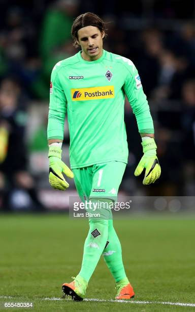 Yann Sommer of Moenchengladbach is seen after the Bundesliga match between Borussia Moenchengladbach and Bayern Muenchen at BorussiaPark on March 19...