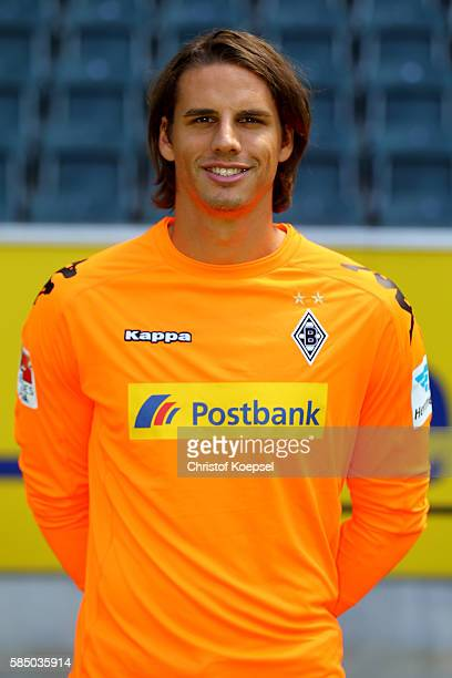 Yann Sommer of Moenchengladbach poses during the team presentation of Borussia Moenchengladbach at BorussiaPark on August 1 2016 in Moenchengladbach...