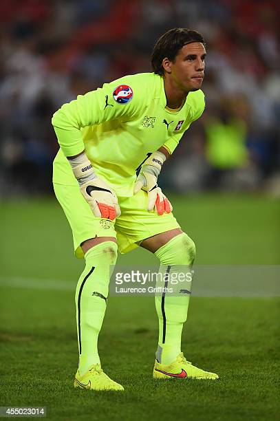 Yann Sommer of Switzerland in action during the UEFA EURO 2016 Qualifier match between Switzerland and England on September 8 2014 in Basel...