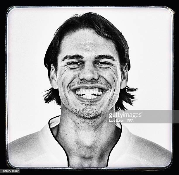 Yann Sommer of Switzerland poses during the official FIFA World Cup 2014 portrait session on June 7 2014 in Porto Seguro Brazil