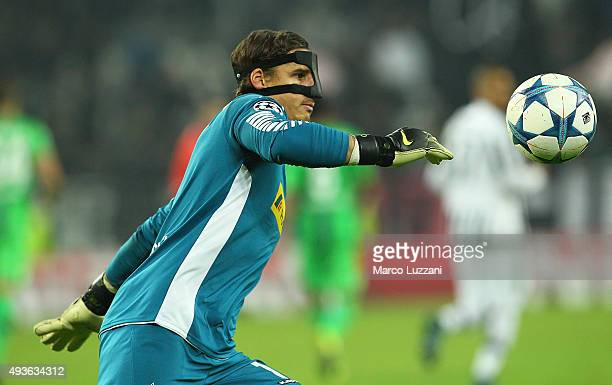 Yann Sommer of VfL Borussia Monchengladbach in action during the UEFA Champions League group stage match between Juventus and VfL Borussia...
