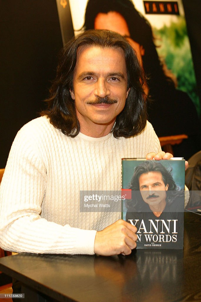 "Yanni Signs his New Book ""In Words"""