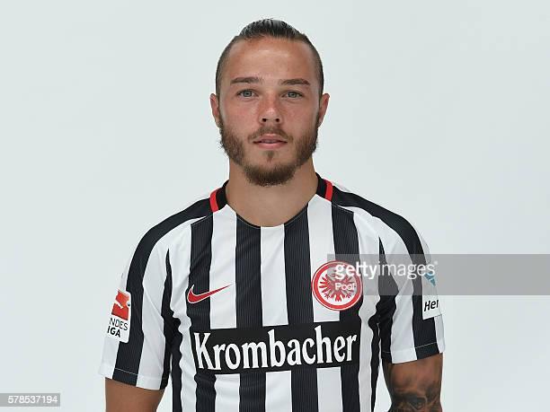 Yanni Regaesel poses during the Eintracht Frankfurt Team Presentation on July 21 2016 in Frankfurt am Main Germany