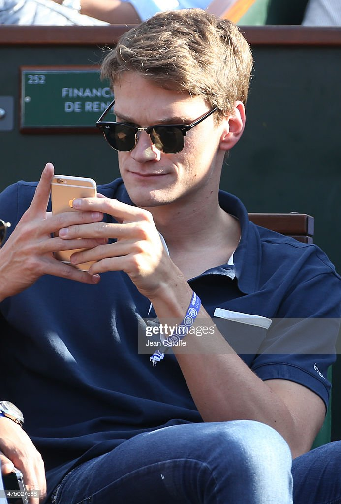 Yannick Agnel attends day 4 of the French Open 2015 at Roland Garros stadium on May 27, 2015 in Paris, France.