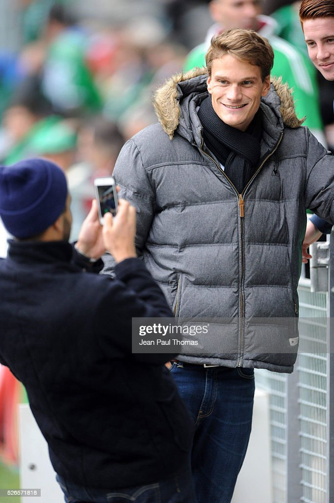 Yannick Agnel during the French Ligue 1 match between AS Saint Etienne and Toulouse FC at Stade Geoffroy-Guichard on April 30, 2016 in Saint-Etienne, France.