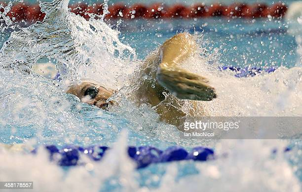Yannick Agnel of France competes in the Men's 100m Freestyle during Duel In The Pool at Tollcross International Swimming Centre on December 20 2013...