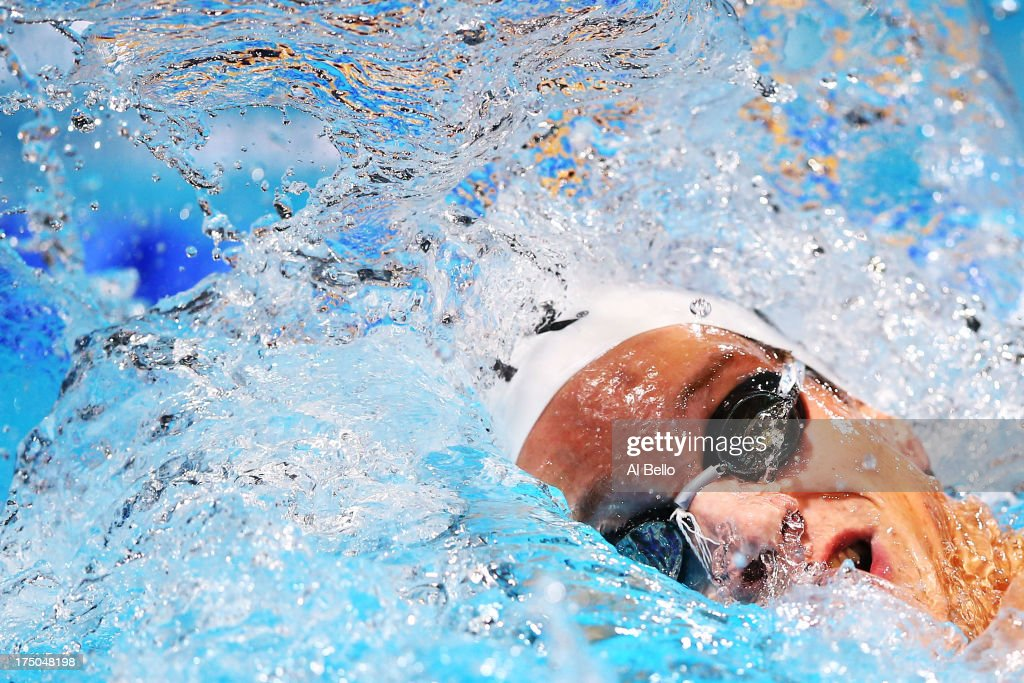 Yannick Agnel of France competes in the Swimming Men's 200m Freestyle Final on day eleven of the 15th FINA World Championships at Palau Sant Jordi on July 30, 2013 in Barcelona, Spain.