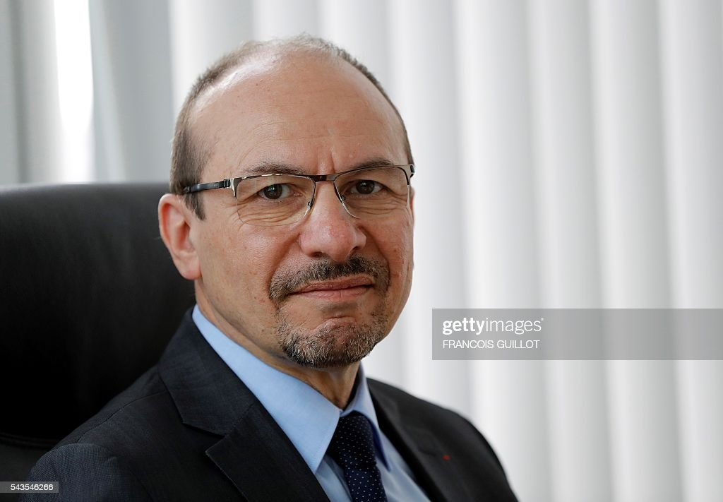 Yannick Blanc, president of the Civic Service Agency, poses on June 29, 2016 in Paris. GUILLOT