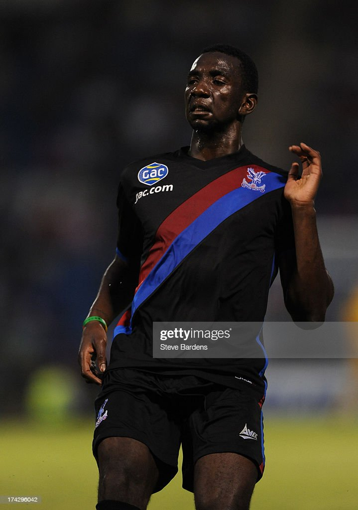 Yannick Bolaise of Crystal Palace during the pre season friendly match between Gillingham and Crystal Palace at Priestfield Stadium on July 23, 2013 in Gillingham, Medway.